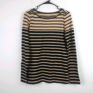 J.CREW Artist T Cotton Long Sleeve Striped Top(S)
